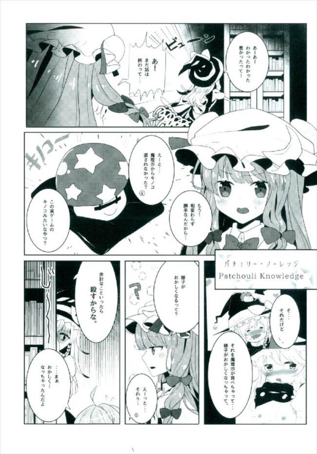 【エロ同人誌 東方】えっちな幻想郷~パチュリーとえっちな魔法編~【無料 エロ漫画】 (6)