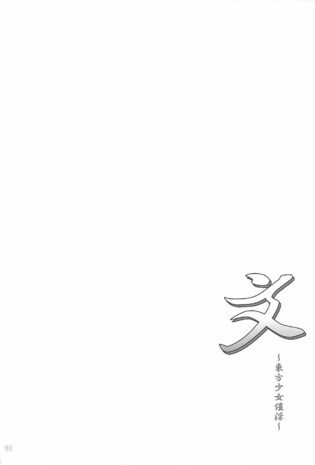 【エロ同人誌 東方】文~東方少女催淫~【無料 エロ漫画】 (3)